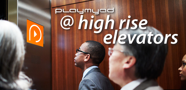 Place based media in high rise elevators